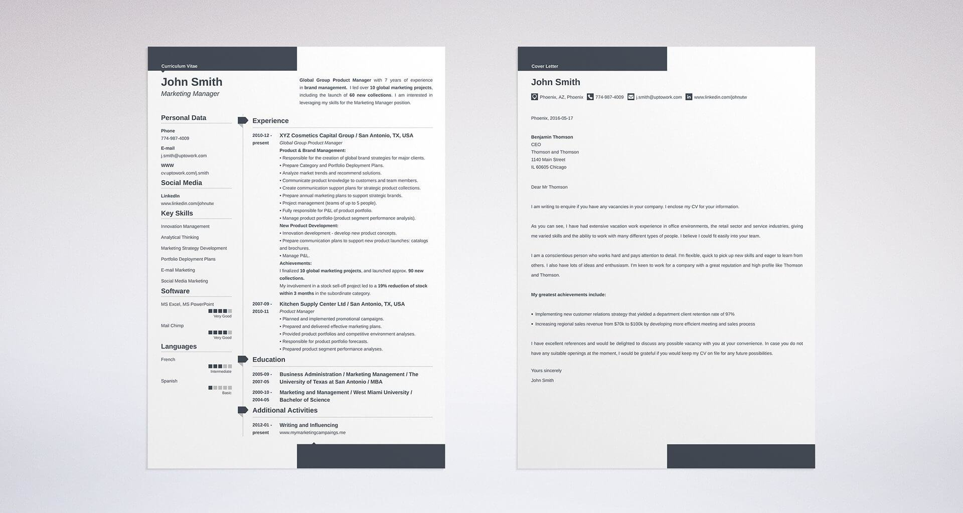 cover letter and resume template