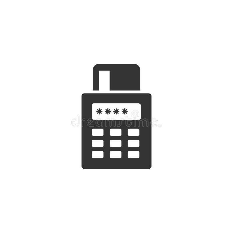 Post credit card terminal icon. payment, pos, terminal symbol vector illustration for website and mobile app on white background stock illustration